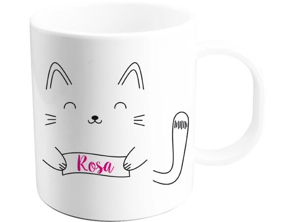 Taza gatito personalizada con nombre