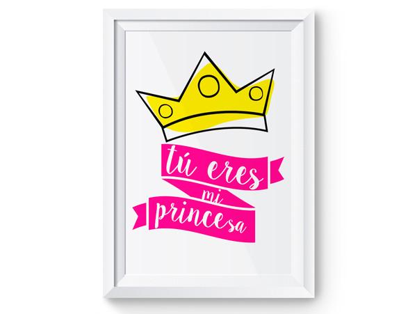Lámina tu eres mi princesa