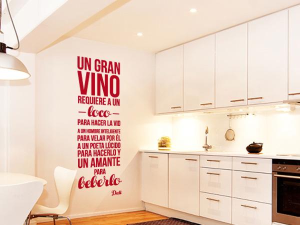 Un gran vino frase Dali